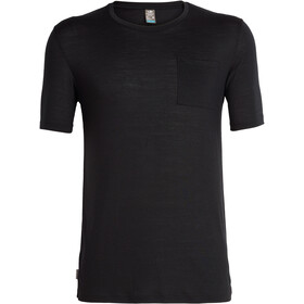 Icebreaker Elmnts SS Pocket Crewe Top Men, black